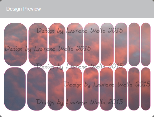This Nail Wrap array is of an actual sunset sky I photographed. May the beauty of the sky beautify your hands with these sunset nail wraps