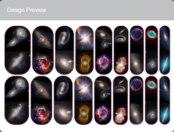Images from the Hubble Space telescope for your nails. Wear them to your next Far Out party!