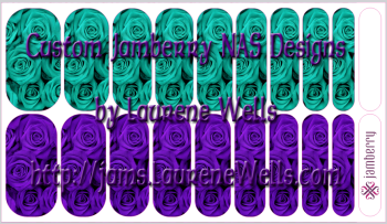 2015_07_July_Roses-teal_and_purple-mixed